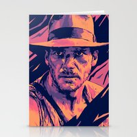 indiana jones Stationery Cards featuring indiana jones// bad actors v2 by mergedvisible