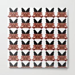 Pattern Logo Wolves 01 Metal Print