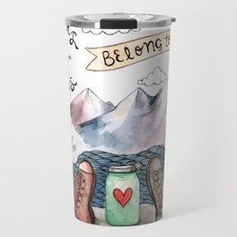 Hearts and Boots Travel Mug