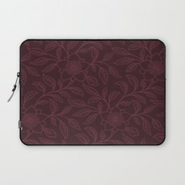 Tawny Port Lace Floral Laptop Sleeve