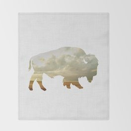 Bison and Plains Throw Blanket