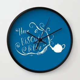 Biscuit (blue + white) Wall Clock