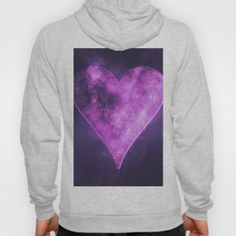 Heart symbol. Playing card. Abstract night sky background Hoody