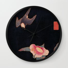 Swallow and Camellia Wall Clock