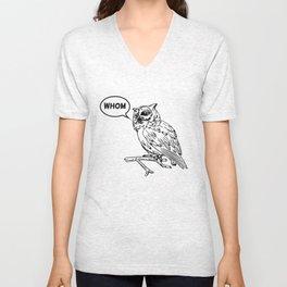 Analytical Owl Unisex V-Neck