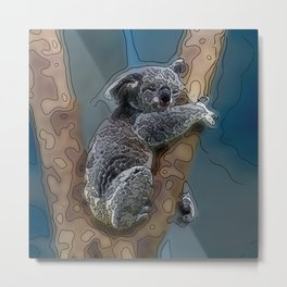 Animal ArtStudio 16416 Koala Metal Print