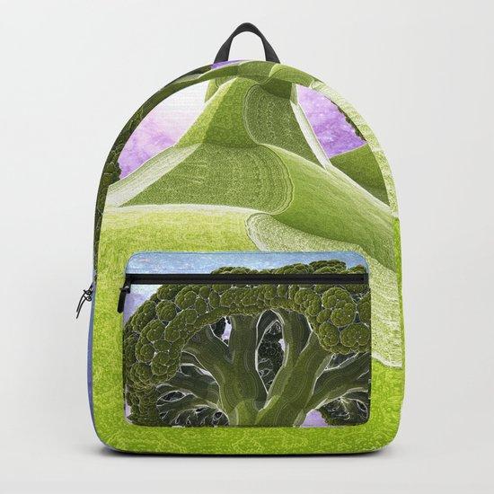 Broccoli Planet / / #fractal #fractals #3d Backpack