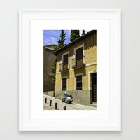 vespa Framed Art Prints featuring Vespa  by ammymp