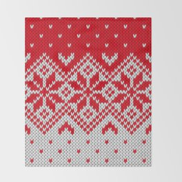 Winter knitted pattern 10 Throw Blanket