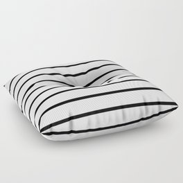 Thin Black Stripe Pattern Floor Pillow
