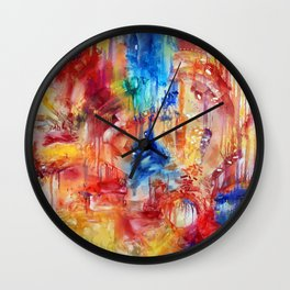 She Made Rainbows by Nadia J Art Wall Clock