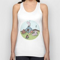 library Tank Tops featuring Turtle Library by mumblethief