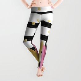 Beautiful Girl Boss Seamless Design Patterns Leggings