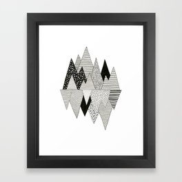 Lost in Mountains Framed Art Print
