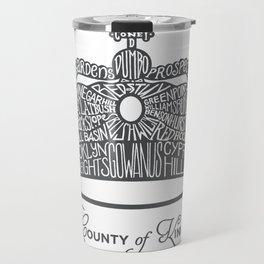County of Kings   Brooklyn NYC Crown (GREY) Travel Mug