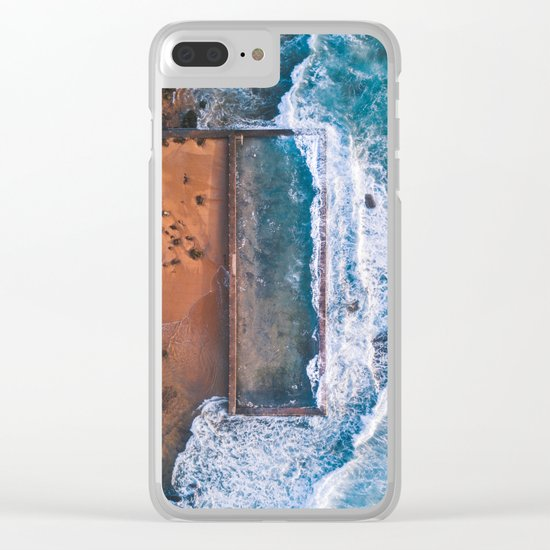 Natural swimming pool Clear iPhone Case