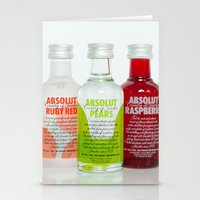 vodka Stationery Cards featuring Absolut vodka by AvantiLouice