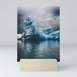 iceberg in iceland Mini Art Print