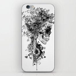 Skull BW iPhone Skin