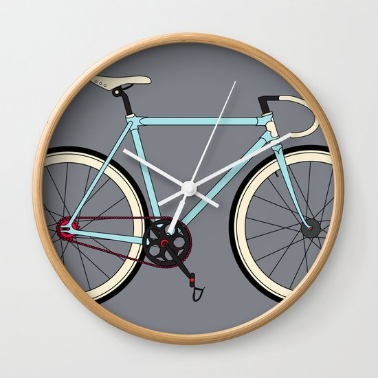 Bike Design Wall Clock : Classic road bike wall clock by wyatt design society