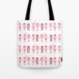 Girl + Boy + Cat Tote Bag