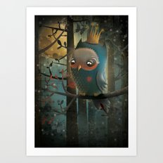 King Owl Art Print