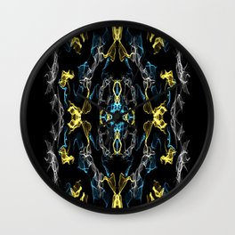 Abstract Silk Drawing Wall Clock