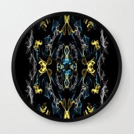 Abstract Silk Drawing Wall Clock