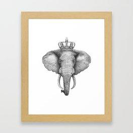 The King Elephant Framed Art Print