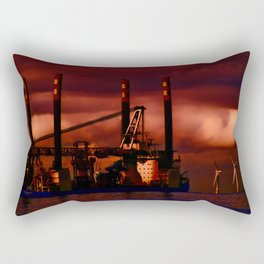 Passing Rig Rectangular Pillow