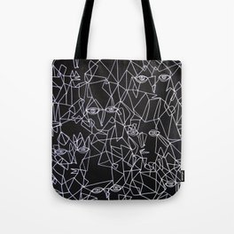 Tracing Faces  Tote Bag