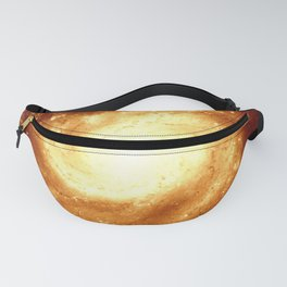 Golden Spiral Galaxy Fanny Pack
