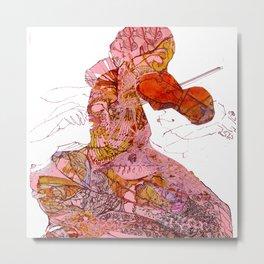 Violins Pink Serenade  Metal Print