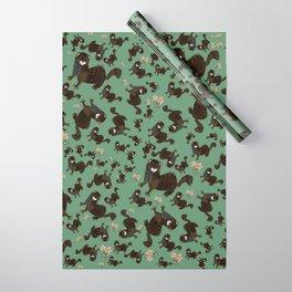 Shy european mink pattern Wrapping Paper