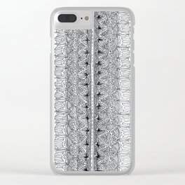 ISA Standard Design Verticle Clear iPhone Case