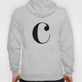 """Monogram Series Letter """"c"""" Hoody"""