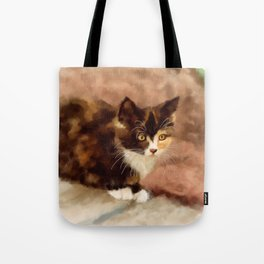 Calico Kitten Tote Bag