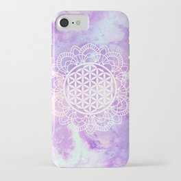 Flower Of Life (Soft Lavenders) iPhone Case