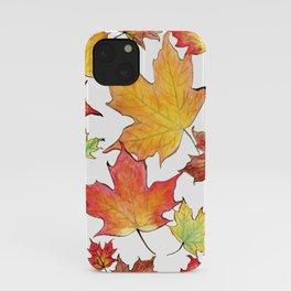 Autumn Maple Leaves iPhone Case