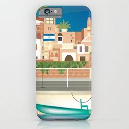 Tel Aviv, Israel - Skyline Illustration by Loose Petals iPhone Case