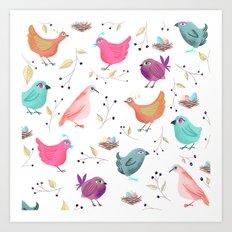 Bird Nests Art Print
