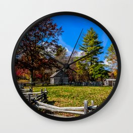 Fenced In Beauty in Virginia Wall Clock