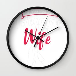 My-Husband-Is-Blessed-With-An-Awesome-Wife-T-Shirt Wall Clock