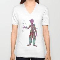 geode V-neck T-shirts featuring Geode Maker by adorkablyfeline