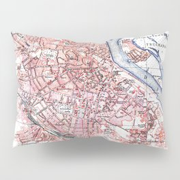 Vintage Map of Kiev Ukraine (1918) Pillow Sham