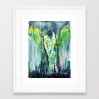 sin city Framed Art Prints featuring Sin City by Beata Belanszky Demko