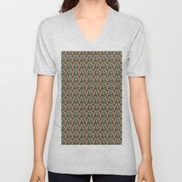 Brownish nude spectrum of colors in a pattern Unisex V-Neck