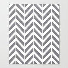 Gray Broken Chevron Canvas Print