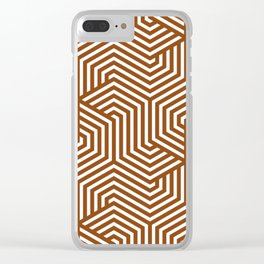 Saddle brown - brown - Minimal Vector Seamless Pattern Clear iPhone Case