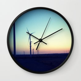 Windmill Sunset Wall Clock